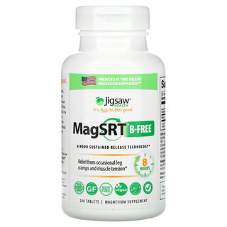 Jigsaw Health, MagSRT B-Free, Time-Release Magnesium, 240 Tablets