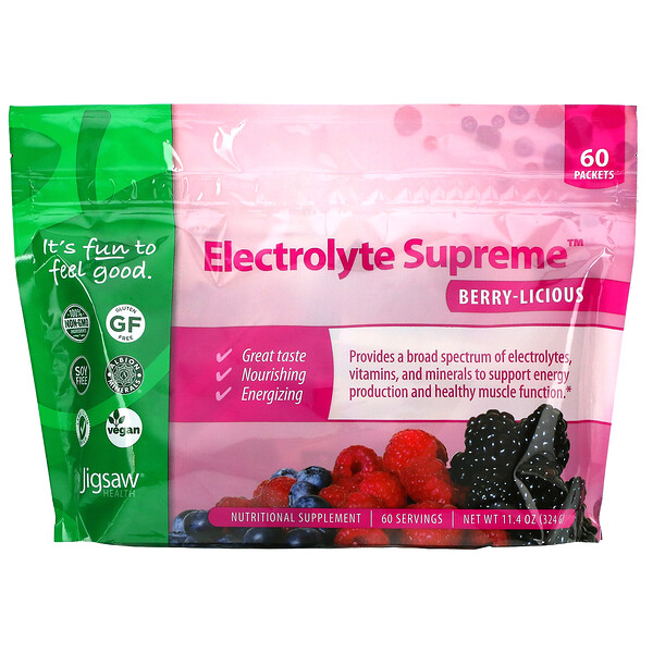 Electrolyte Supreme, Berry-Licious, 60 Packets, 11.4 oz (324 g)
