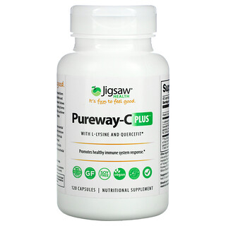 Jigsaw Health, Pureway-C Plus with L-Lysine and Quercefit, 120 Capsules