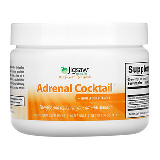 Jigsaw Health, Adrenal Cocktail + Wholefood Vitamin C, 8.57 oz (243 g)