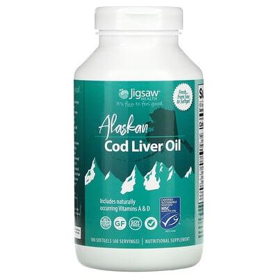 Jigsaw Health Alaskan Cod Liver Oil, 180 Softgels