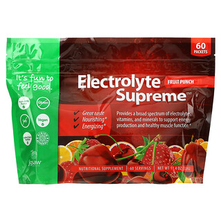 Jigsaw Health, Electrolyte Supreme, Fruit Punch, 60 Packets, 11.4 oz (324 g)