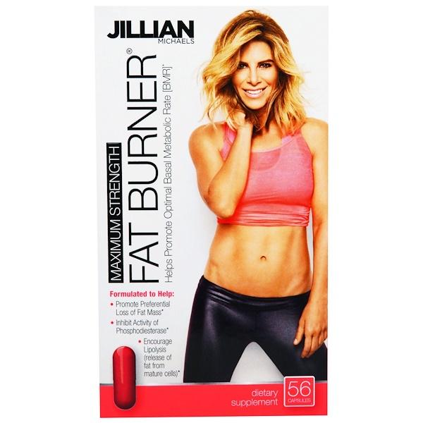 Jillian Michaels, 脂肪燃燒劑,最大強度,56膠囊