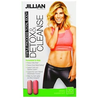 Jillian Michaels, Detox & Cleanse, Triple Process Total Body, 35 Capsules