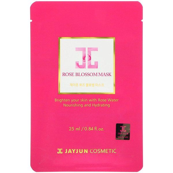 Jayjun Cosmetic, Rose Blossom Mask, 1 Mask, 0.84 fl oz (25 ml) (Discontinued Item)