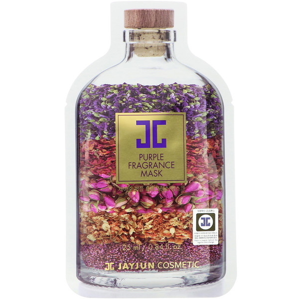 Jayjun Cosmetic, Purple Fragrance Mask, 1 Sheet, 0.84 fl oz (25 ml) (Discontinued Item)