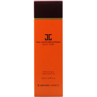 Jayjun Cosmetic, Tónico iluminador negro con agua real, 4.39 ozfl (130 ml)