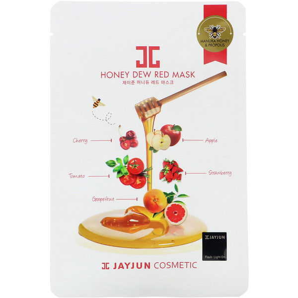 Jayjun Cosmetic, Honey Dew Red Beauty Mask, 1 Sheet, 25 ml