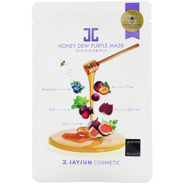 Jayjun Cosmetic, Honey Dew Purple Mask, 1 Sheet, 25 ml