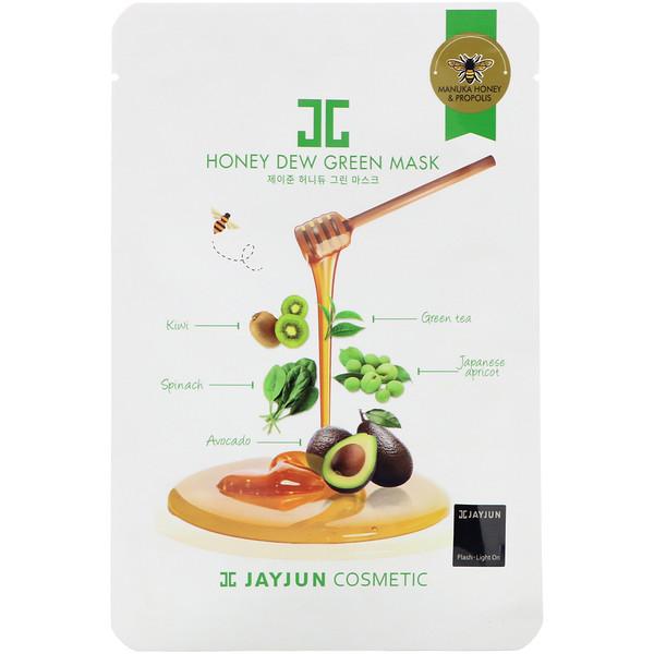 Jayjun Cosmetic, Honey Dew Green Mask, 1 Sheet, 25 ml