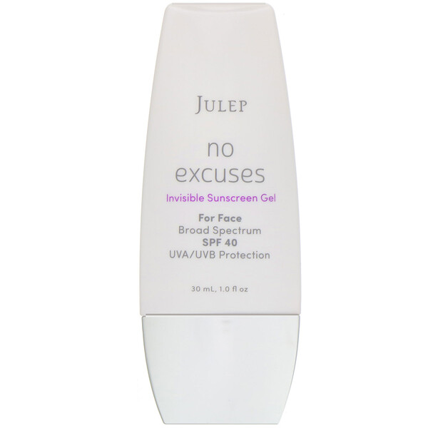 No Excuses, Invisible Sunscreen Gel, SPF 40, 1 fl oz (30 ml)