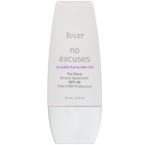 Julep, No Excuses, Invisible Sunscreen Gel, SPF 40, 1 fl oz (30 ml) отзывы