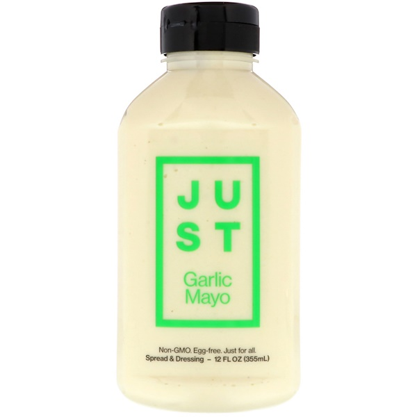 Just Mayo, Just Garlic Mayo, 12 fl oz (355 ml) (Discontinued Item)