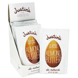 Justin's Nut Butter, ハニー・アーモンド・バター、スクイーズパック10個、各 1.15 オンス(32 g)