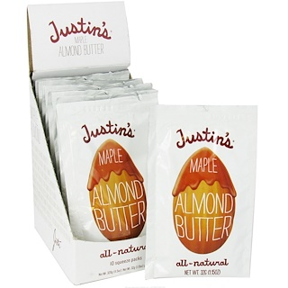 Justin's Nut Butter, Maple Almond Butter, 10 Squeeze Packs, 1.15 oz (32 g) Each