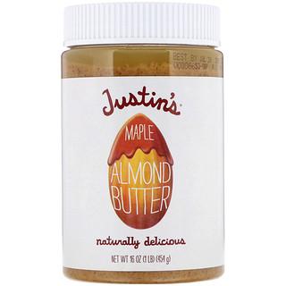 Justin's Nut Butter, Миндальное масло с кленовым сиропом, 16 унций (454 г)