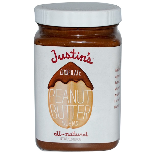 Justin's Nut Butter, Chocolate Peanut Butter Blend, 16 oz (454 g) (Discontinued Item)
