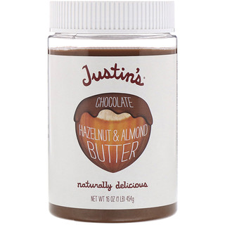 Justin's Nut Butter, Mantequilla de chocolate y avellanas, 16 oz (454 g)