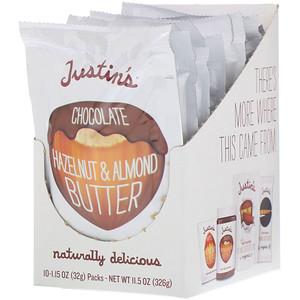 Джастин Нат Баттэр, Chocolate Hazelnut Butter Blend, 10 Squeeze Packs, 1.15 oz (32 g) Per Pack отзывы покупателей