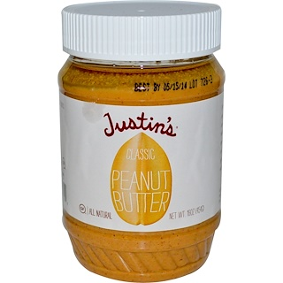 Justin's Nut Butter, Classic Peanut Butter, 16 oz (454 g)