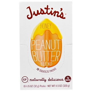 Justin's Nut Butter, Honey on the Go, Miel Activa 16+ Manuka, 24 Sachets, 0.2 oz (5 g) c/u