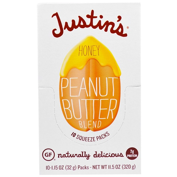 Justin's Nut Butter, Honey on the Go, Miel Activa 16+ Manuka, 24 Sachets, 0.2 oz (5 g) c/u (Discontinued Item)