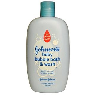 Johnson's, Детская очищающая пена для ванн, 15 жидких унций (443 мл)