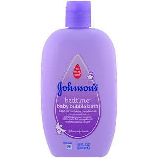 Johnson's, Baby Bedtime, пена для ванны, 15 жидких унции (444 мл)
