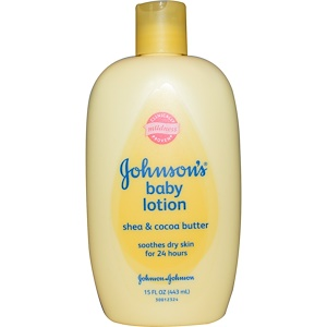 Джонсонс Бэйби, Baby Lotion, Shea & Cocoa Butter, 15 fl oz (443 ml) отзывы