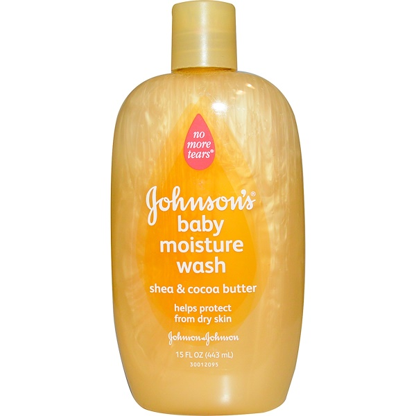 Johnson's, 嬰兒滋潤沐浴露,乳木果油和可可脂,15液體盎司(443毫升)