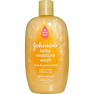 Джонсонс Бэйби, Baby Moisture Wash, Shea & Cocoa Butter, 15 fl oz (443 ml) отзывы покупателей