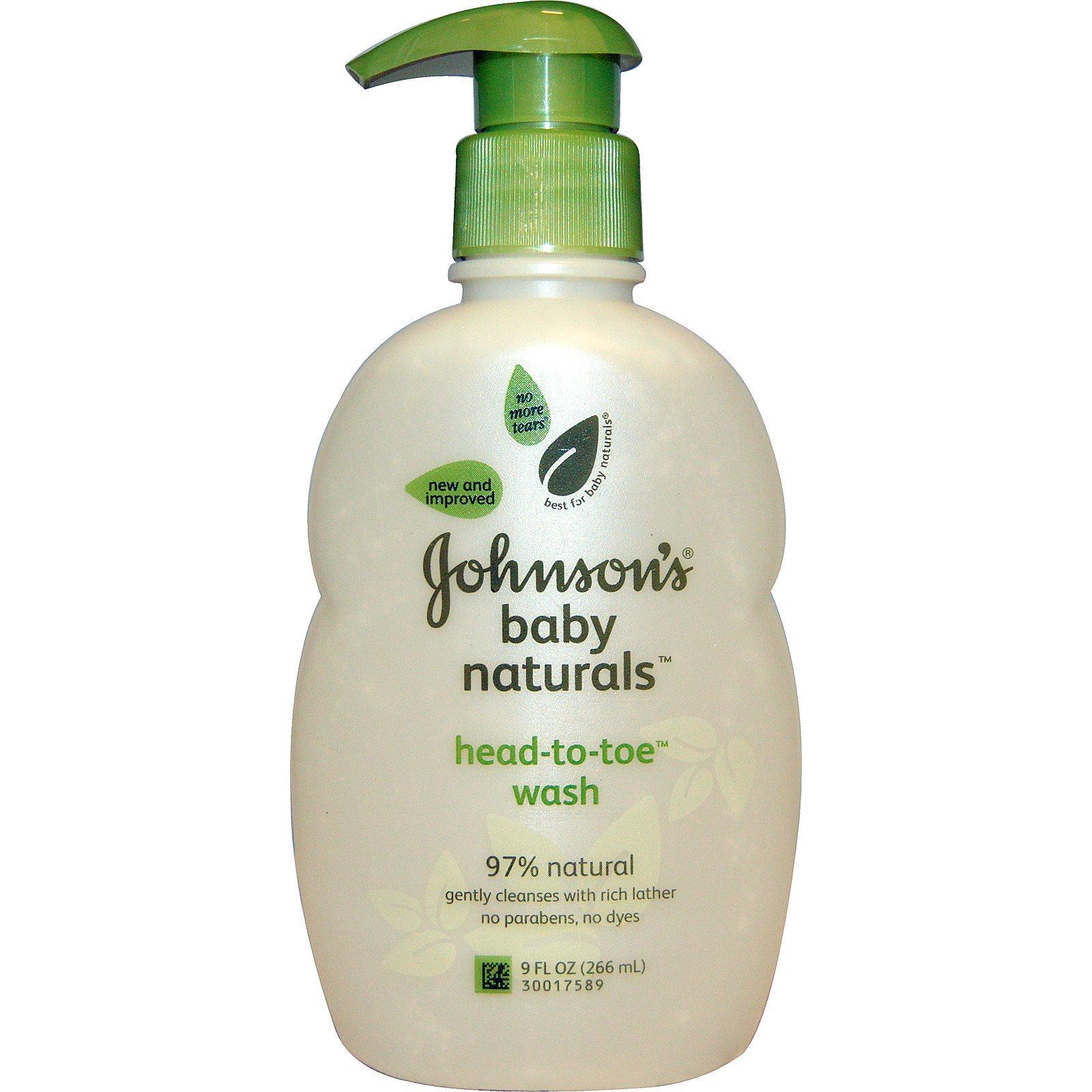 Johnson's Baby, Natural, Head-to-Toe Foaming Baby Wash, 9 fl oz (266 ml)