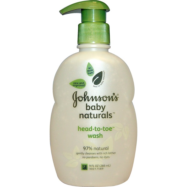 Johnson's Baby, Baby Naturals, Head-to-Toe Wash, 9 fl oz (266 ml)