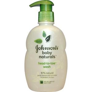 Джонсонс Бэйби, Baby Naturals, Head-to-Toe Wash, 9 fl oz (266 ml) отзывы