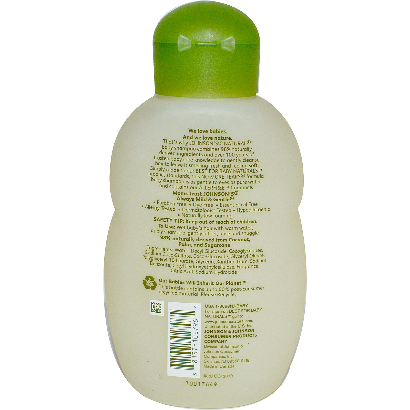 Johnson S Natural Baby Shampoo Fl Oz