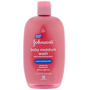 Джонсонс Бэйби, Baby Moisture Wash, 15 fl oz (443 ml) отзывы