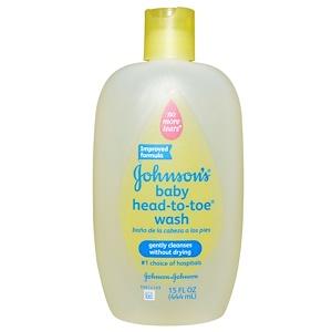 Джонсонс Бэйби, Baby Head-To-Toe Wash, 15 fl oz (444 ml) отзывы покупателей