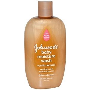Джонсонс Бэйби, Baby Moisture Wash, Vanilla Oatmeal, 15 fl oz (443 ml) отзывы покупателей