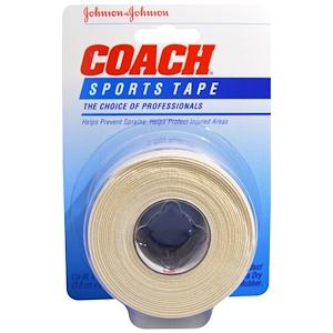 Джонсонс Бэйби, Coach, Sports Tape, 1 1/2 in x 10 yds (3.8 cm x 9.1 m) отзывы