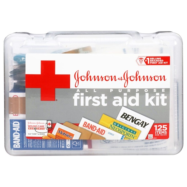 Johnson's Baby, All Purpose First Aid Kit, 125 Piece Kit (Discontinued Item)