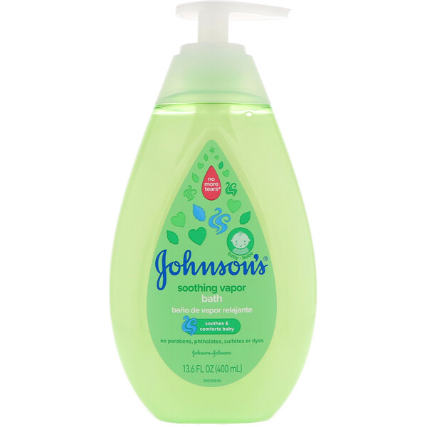 Johnson & Johnson, Soothing Vapor, Bath, 13.6 fl oz (400 ml)