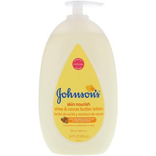 Johnson's, Skin Nourish, Shea & Cocoa Butter Lotion, 16.9 fl oz (500 ml)