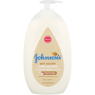 Johnson's, Skin Nourish, Vanilla Oat Lotion, 16.9 fl oz (500 ml)