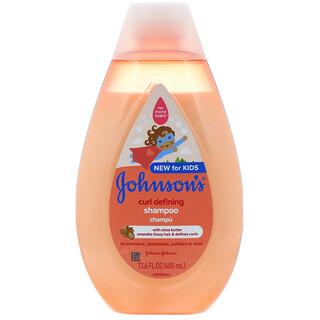 Johnson's Baby, Curl Defining, lockendefinierendes Shampoo für Kinder, 400ml