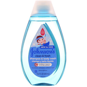 Джонсонс Бэйби, Kids, Clean & Fresh, Shampoo & Body Wash, 13.6 fl oz (400 ml) отзывы покупателей