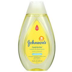 Johnson's Baby, 從頭到腳,洗發沐浴露,新生兒,13.6 液量盎司(400 毫升)
