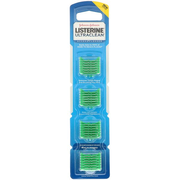 Johnson's, Listerine, Ultraclean, Access Flosser Refill Pack, Mint Flavored, 28 Disposable Heads