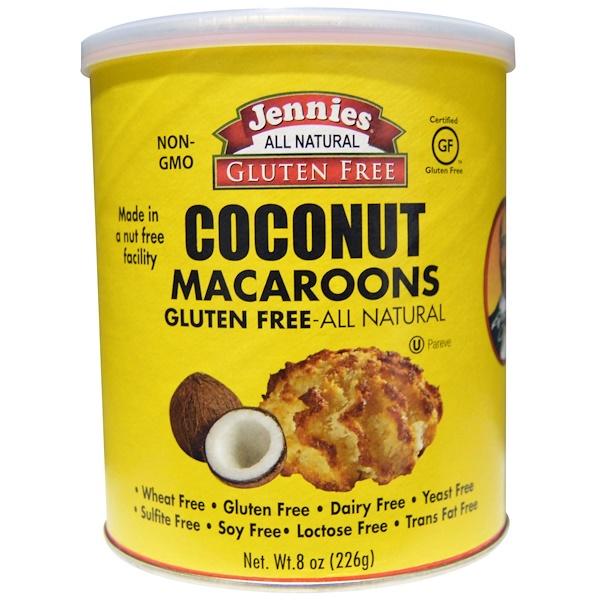 "Jennies Gluten Free Bakery, Кокосовое печенье ""макарун"", 8 унций (226 г)"