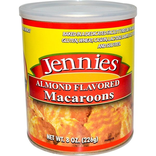 Jennies Gluten Free Bakery, Macaroons, Almond Flavored, 8 oz (226 g) (Discontinued Item)