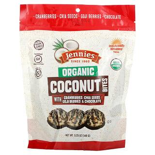 Jennies Macaroons, Organic Coconut Bites, with Cranberries, Chia Seeds, Goji Berries & Chocolate, 5.25 oz (149 g)